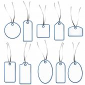 Blank Gift Tag Collection - White And Blue