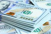 US dollars close-up. Shallow DOF!