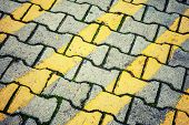 Abstract Urban Background Texture. Yellow Lines Pattern