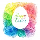 image of happy easter  - greeting floral cards for Easter - JPG