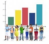 Bar Graph Growth Success Improvement Concept
