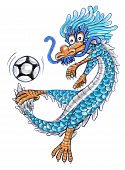 football dragon cartoon