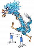 running dragon cartoon