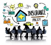 foto of insurance-policy  - Diversity Business People Insurance Policy Conference Concept - JPG