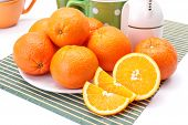Appetizing Oranges On Plate