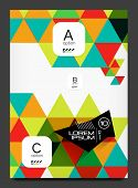 Abstract modern flyer - brochure template. Business web page, application background