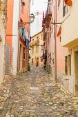 street in old town of Lisbon