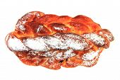Traditional Czech Christmas Twist Bread
