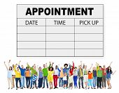 Appointment Schedule Memo Management Organizer Urgency Concept