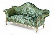 Sofa Bright Antique Retro Painted With Gilt