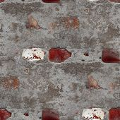 seamless old gray texture stone wall with crack background wallp