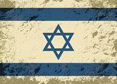 foto of israeli flag  - Israeli flag Grunge background - JPG