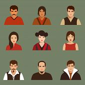 picture of avatar  - vector flat people face - JPG