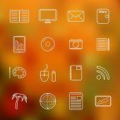 Set of simple thin freelance icons