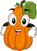 Mascot Illustration of a Squash With Its Hands on Its Hips