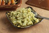 Traditional moroccan potato salad as a side dish