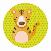 foto of chinese zodiac animals  - Chinese Zodiac Tiger Theme Elements - JPG