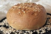Oat Bread, Whole Loaf, Baked