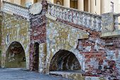 image of dnepropetrovsk  - Ruined brick staircase in the palace - JPG