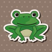 foto of cute frog  - Animal Frog Cartoon Theme Elements - JPG