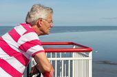 Elderly Man On The Boat