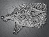 image of werewolf hunter  - Patterned head of the wolf - JPG