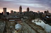 Sunset In Downtown Cleveland