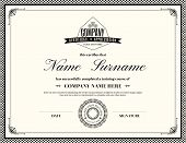 picture of certificate  - Retro frame certificate of appreciation design template - JPG