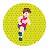 pic of track field  - Track And Field Athletes Theme Elements Vector - JPG