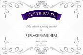 image of certificate  - Certificate template - JPG