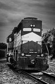 foto of caboose  - Train on a cloudy day in the midwest - JPG