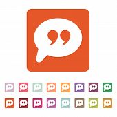 image of quotation mark  - The Quote sign icon - JPG