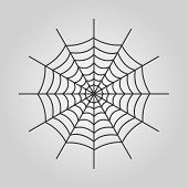stock photo of spiderwebs  - The spiderweb icon - JPG