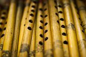 picture of indian  - Photo of brown indian wooden flutes from the indian exhibition - JPG