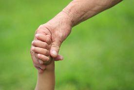 image of grandma  - Child and grandma holding hands - JPG
