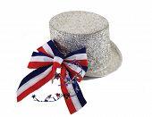 July 4Th Hat And Ribbon