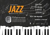Keyboard, Musical Instrument Design Realistic Style And A4 Poster Music Festival Layout For Commerci poster