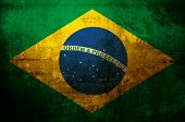 antique flag of brazil