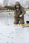 Fisherman. Ice Fishing Competition