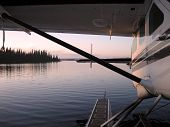 picture of cessna  - A shot of a a Cessna Caravan seaplane tied up for the night in Northern Canada - JPG