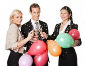 picture of office party  - Business team selebrating success - JPG