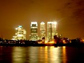 Canary Wharf in der Nacht