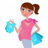 Pregnant mom on shopping for baby boy