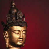 Budha Head On Red