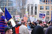 Protesting Plumbers & Pipefitters
