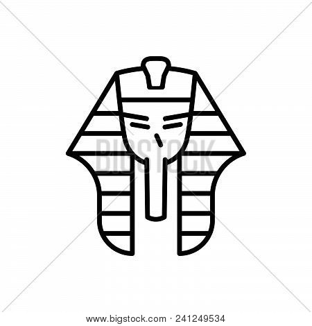 Pharaoh Vector Icon On White
