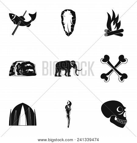 Old Time Icons Set Simple