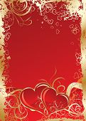 image of valentine card  - Valentines grunge background art illustration for design - JPG
