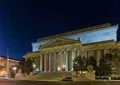National Archives Building Or Archives I In Washington D.c., Usa. It Was Approved In 1926 And Built  poster