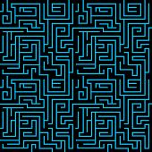 Seamless maze background vector